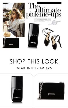 """""""black"""" by sanela-m ❤ liked on Polyvore featuring Chanel, Ivanka Trump, Woman Within and DKNY"""