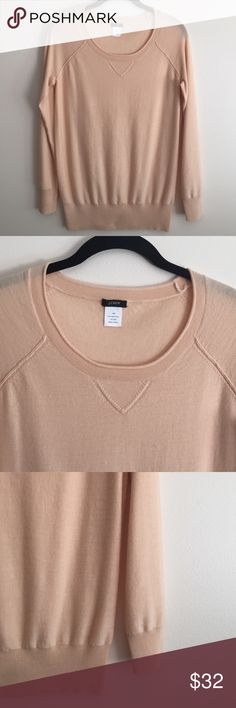 Spotted while shopping on Poshmark: Jcrew peach sweater! #poshmark #fashion #shopping #style #J. Crew #Sweaters