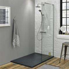 Ensuite bathroom Walk In Shower Enclosure & Tray - 1400 x Parents Supporting Adult Children? Wet Room Bathroom, Slate Bathroom, Bathroom Renos, Modern Bathroom, Bathroom Ideas, Shower Ideas, Shower Panels, Shower Doors, Shower Screens