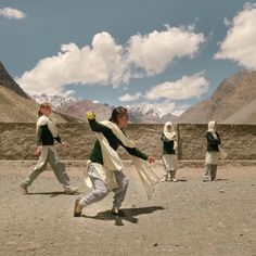 Girls Playing A Game Of Cricket In Pakistan : AccidentalWesAnderson