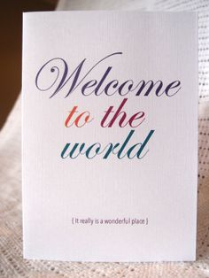 Newborn Baby card  Welcome to the world  by LittleWhiteMouse, $3.00 #baby #newborn