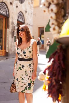 floral sun dress | 40plusstyle.com