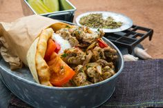 Ballpark Pork Gyro with Peppers and Onions - Pork Recipes - Pork Be Inspired