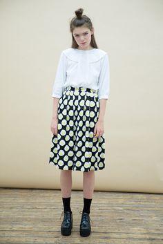 Midi Skirt in Egg Print - the whitepepper