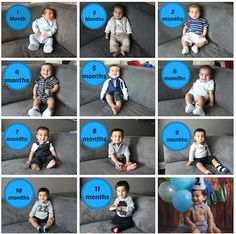 Tips for Taking Your Baby's Month-by-Month Pictures