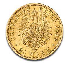 Kaiser Wilhelm I., Preußen, 20 Mark, 7.16g Gold, 1871-1888
