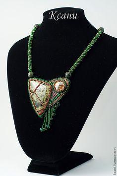 "Мини-колье ""Полоз"". Handmade."