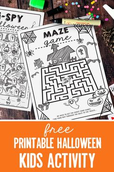 The time is drawing near - for all things spooky, crazy and Halloween-y! Kick start the month of ghostly fun with these awesome FREE Halloween Kids Activity sheets! Halloween Party Activities, Halloween Maze, Autumn Activities, Halloween Projects, Craft Activities For Kids, Halloween Themes, Crafts Toddlers, Mazes For Kids Printable, Activity Sheets For Kids