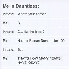 why i could never be dauntless...