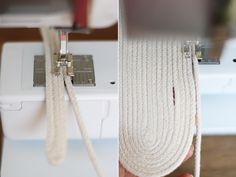 I've had instructions on how-to-sew-rope-bowls saved tomy Pinterest