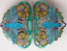 Art Nouveau Insect Enamel Buckle Bijoux Art Nouveau, Art Nouveau Jewelry, Jewelry Art, Jewelry Design, Jewellery, Enamel Jewelry, Antique Jewelry, Vintage Jewelry, Insect Jewelry