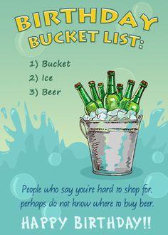 Funny Bucket List Birthday Card