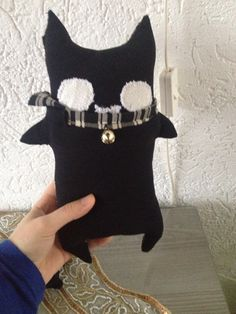 """My second plushie :D i think it turned out cute ^_^ """"tags: #plushy #plushies #cat #kitty #DIY """""""