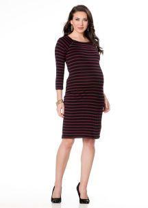 Motherhood Elbow Sleeve Button Detail Maternity Dress on shopstyle.com