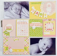 """It's a Girl"" Pocket Page by Becki Adams for #CartaBellaPaper"
