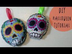 Tutorial Halloween: come fare Teschi Messicani di stoffa MORBIDOSI by ART Tv - YouTube