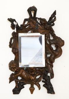 Specchio da tavolo in legno intagliato venezia fine 800 for Specchio fine 800