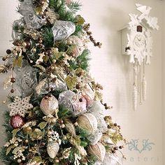 120cm Christmas Tree Set /  Shabby Chic / presented by Materi