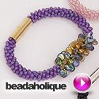 Tutorial - Videos: How to Make the Deluxe Beaded Kumihimo Bracelet Kit with Pip Bead Focal | Beadaholique