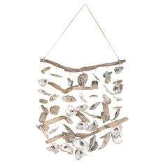 Crafted from a melange of driftwood pieces and oyster shells, this coastal-chic wind chime soothes in your three-season porch or master suite.  ...