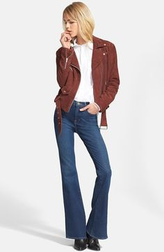 Veda+'Jayne'+Suede+Moto+Jacket+available+at+#Nordstrom