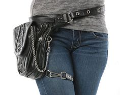 The Chrome Uptown Pack is designed to allow you to wear your purse eight different ways. Wear it to match your style and attitude.Just like the Uptown Pack, the Chrome Uptown features silver hardware instead of antique brass. Why change your purse, just change the way you wear it. Our simple strap system changes the look and function of the bag 8 stylish ways:  1. Thigh Holster 2. Protected Purse 3. Shoulder Holster 4. Handbag 5. Backpack 6. Purse 7. Messenger Bag 8. Fanny Pack  The Pack's…