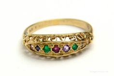 Antique Victorian DEAREST Engagement Ring by VintageCravens