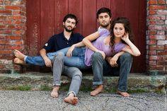 Siblings pose...