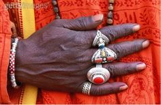 Nepal | Close up of a woman's rings | ©Art Wolfe
