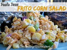 Paula Deen Frito Corn Salad is out of this world good! Only 6 ingredients! #pauladeen #salad #recipe #fritos