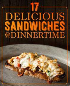 17 Best Dinnertime Sandwiches. Because sandwiches.