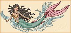 Old School Mermaid Tattoo - 50 Mermaid Tattoos Wolf Tattoos, Finger Tattoos, Feather Tattoos, Nature Tattoos, Tatoos, Flash Art Tattoos, Harry Potter Tattoos, Kunst Tattoos, Tattoo Drawings