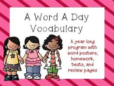 A Word A Day Vocabualray