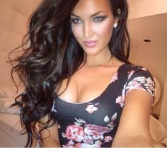 Natalie Halcro- she looks like a brunette Barbie ! Wish I looked like this!