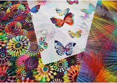 Hoffman Spectrum Digital Prints #hoffmanchallenge #hoffmanspectrumdigital #quilting #quilts #butterflies