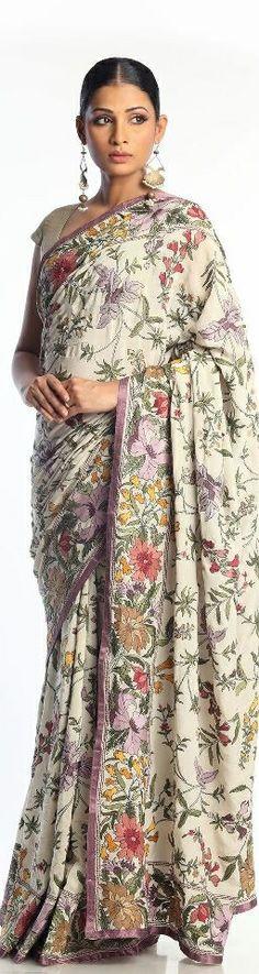 Bergdorf Goodman Kantha Saree - original pin by @webjournal
