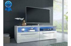 Meuble Tv Design Lumineux Blanc Macario Meuble Tv Design Meuble