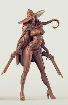 4 by RN Estudio on ArtStation. 3d Fantasy, Fantasy Girl, Character Modeling, Character Art, Fantasy Characters, Female Characters, Digital Sculpting, Art Sculpture, Zbrush