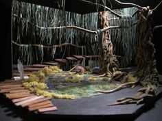 Swamp set idea - Wiley and the Hairy Man by Mauri Anne Smith, via Behance Design Set, Stage Set Design, Set Design Theatre, Design Model, Conception Scénique, Midsummer Nights Dream, Scenic Design, Lighting Design, Scenery