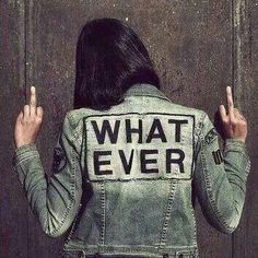 Whatever. Middle finger salute