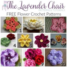 These the best flower patterns crochet that I could find! I am in love with using them on headbands, hats, bags! They're the perfect applique!