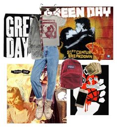 """""""GREEN DAY"""" by denix ❤ liked on Polyvore featuring Converse, Levi's, Cheap Monday, Zadig & Voltaire, JanSport and Yves Saint Laurent"""
