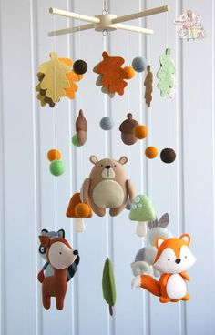 Woodland mobile baby boy for crib Forest nursery decor - Wald mobile Baby mobile Krippe mobile Tiere mobile Wald Baby Baby Mobile Felt, Baby Crib Mobile, Felt Baby, Baby Cribs, Baby Mobiles, Woodland Mobile, Woodland Baby, Fox Mobile, Baby Shower Gifts