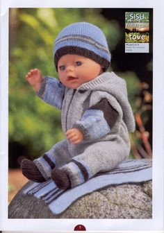 Album Archive - Dukketøj til Baby Born 2 - Ingelise Baby Born Clothes, Preemie Clothes, Knitting Dolls Clothes, Girl Doll Clothes, Doll Clothes Patterns, Knitted Doll Patterns, Knitted Dolls, Baby Knitting Patterns, Premature Baby