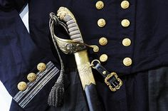 Lord Cochrane's uniform and sword as a Rear Admiral of the Royal Navy