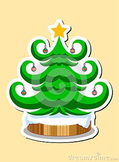 Illustration devoted to the symbols of Christmas