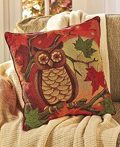 Harvest Tapestry PillowsOwl >>> To view further for this item, visit the image link.