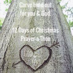 Carve time out this holiday season especially for you & God.  Join our 6th Annual #12Days of #Christmas #Prayer-a-Thon!  www.tinyurl.com/2015PrayerAThon  Starts tomorrow!! #Prayer #Praise #Prizes #Contests #Giveaways #Devotions #DailyDiscussion #SantasStocking #Friendship #Fellowship #Fun #Christian #Women #Ministry
