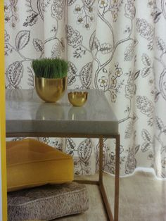 Kravet inspired botanical fabric.