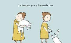 Katzen sind offenbar doch zu gebrauchen Illustrationen von Landysh Akhmetzyanova